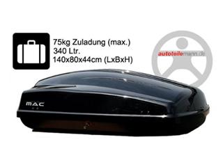 Modula Dachbox Ciao 340 schwarz